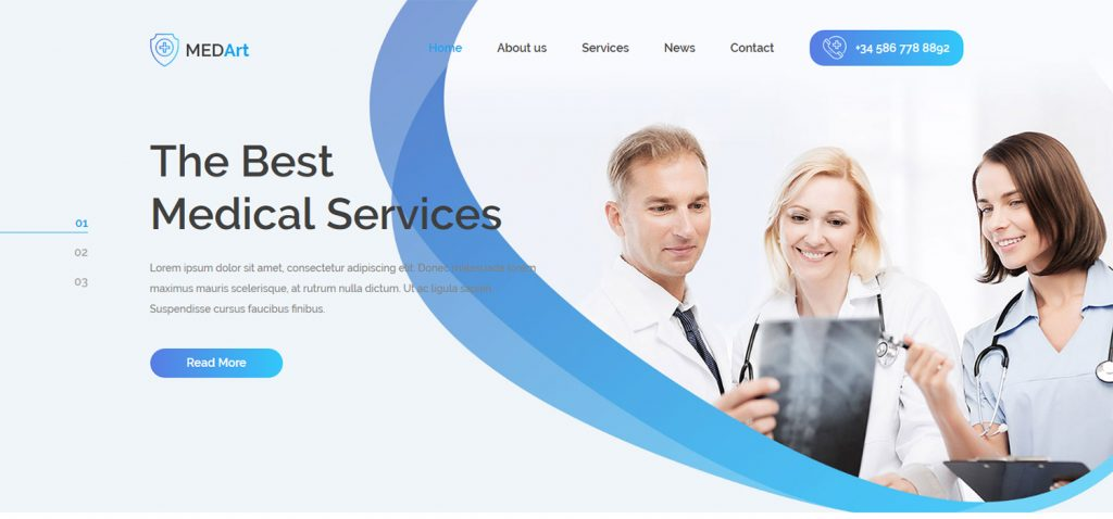 Medical-website-example