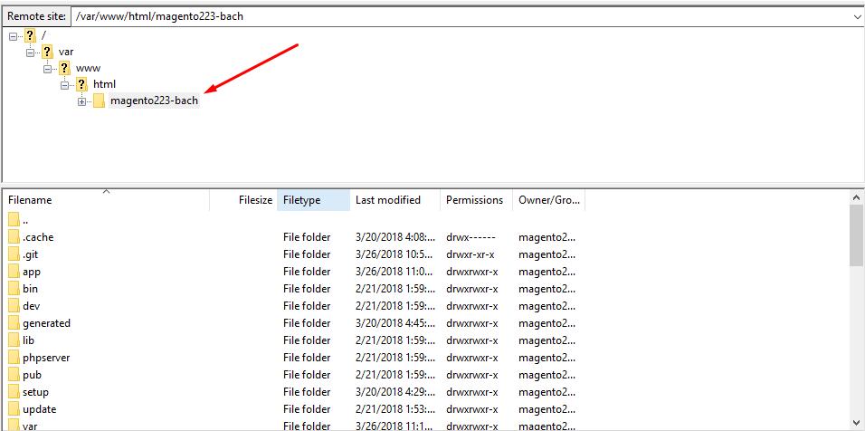 filezilla-server-directory