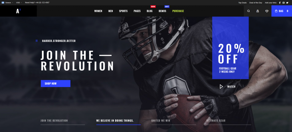 athlete-2-magento-theme