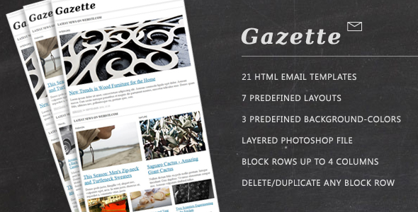 gazette-newsletter-template