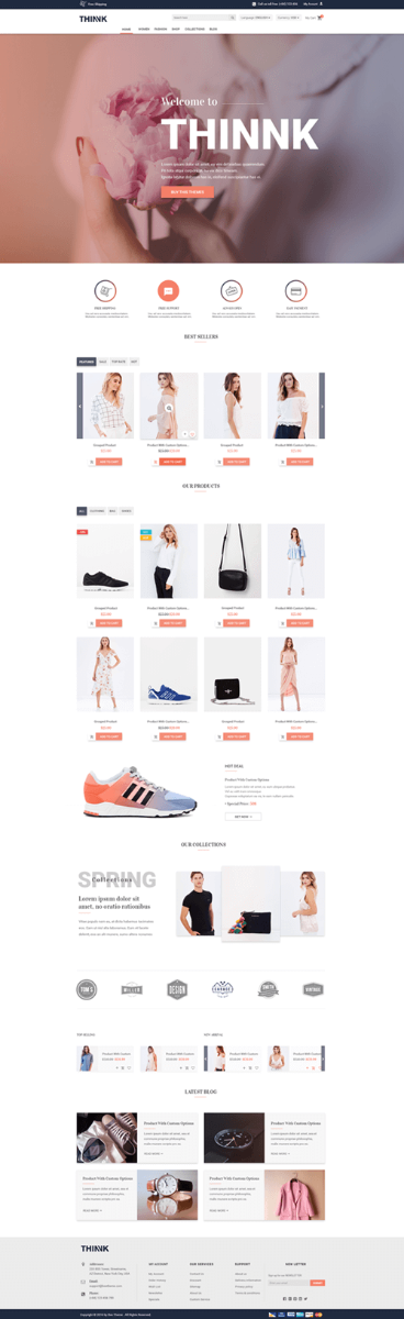magento 2 theme thinnk screenshot 1