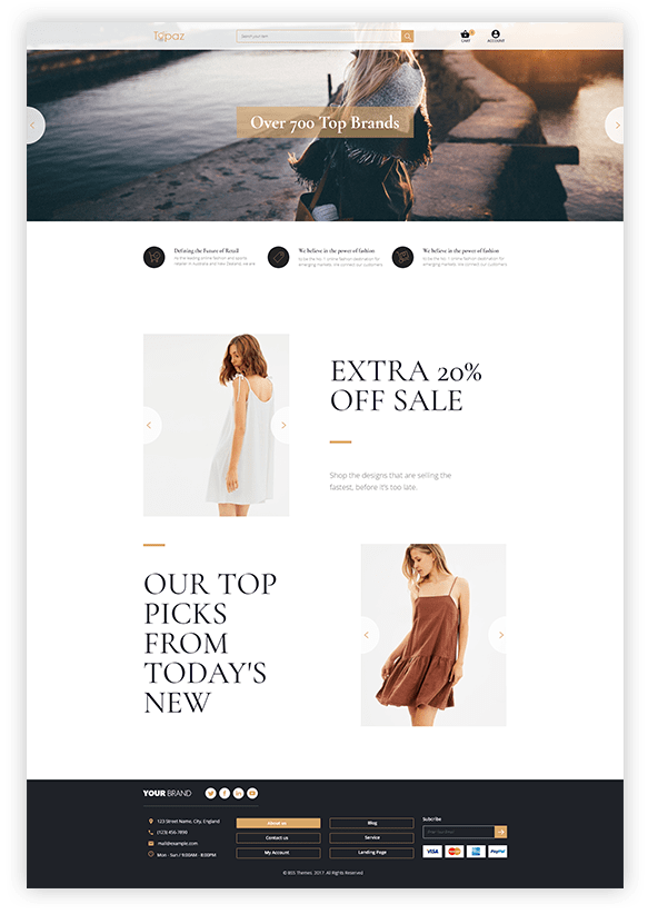 Magento 2 Theme Topaz Header preview 2