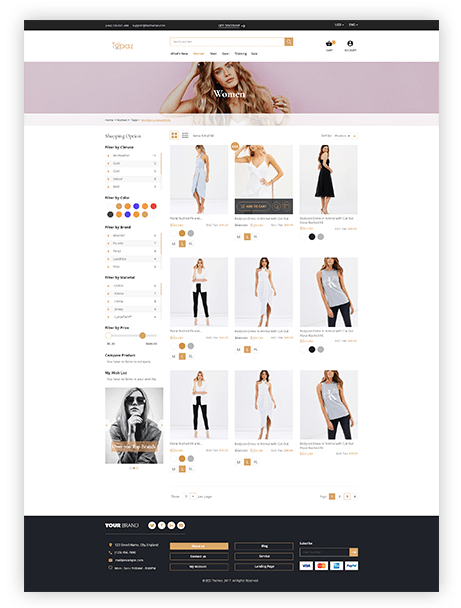 Magento 2 Theme Topaz Header preview 1