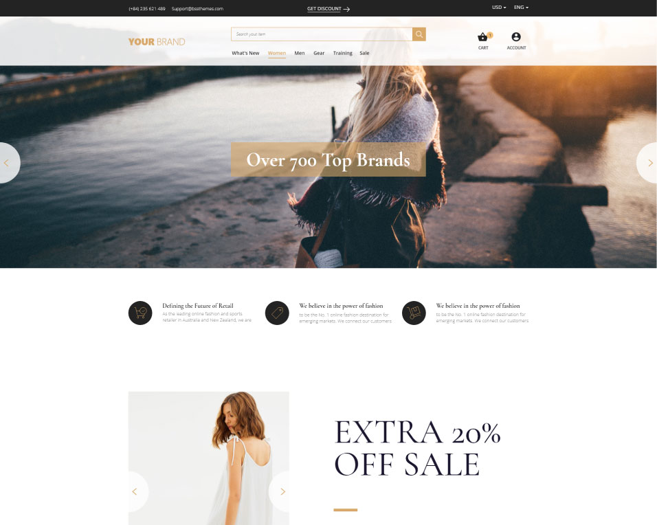 choose a fashion theme to change magento 2 theme