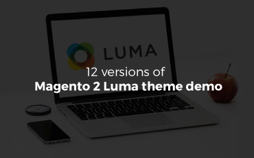 12 versions of Magento 2 Luma theme demo