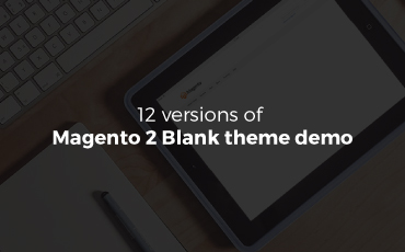 12 versions of magento 2 Blank theme demo