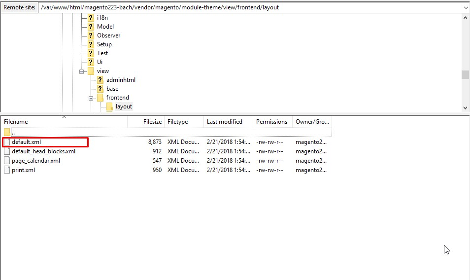 Magento 2 theme xml page layout file