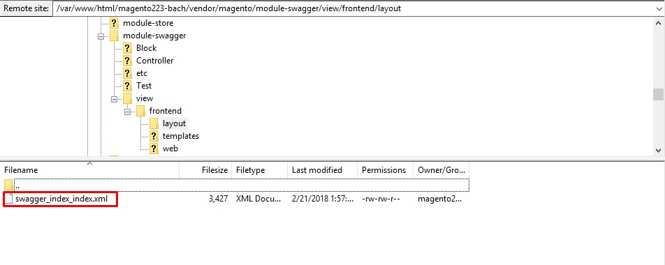 Magento 2 theme module lay out configuration xml file