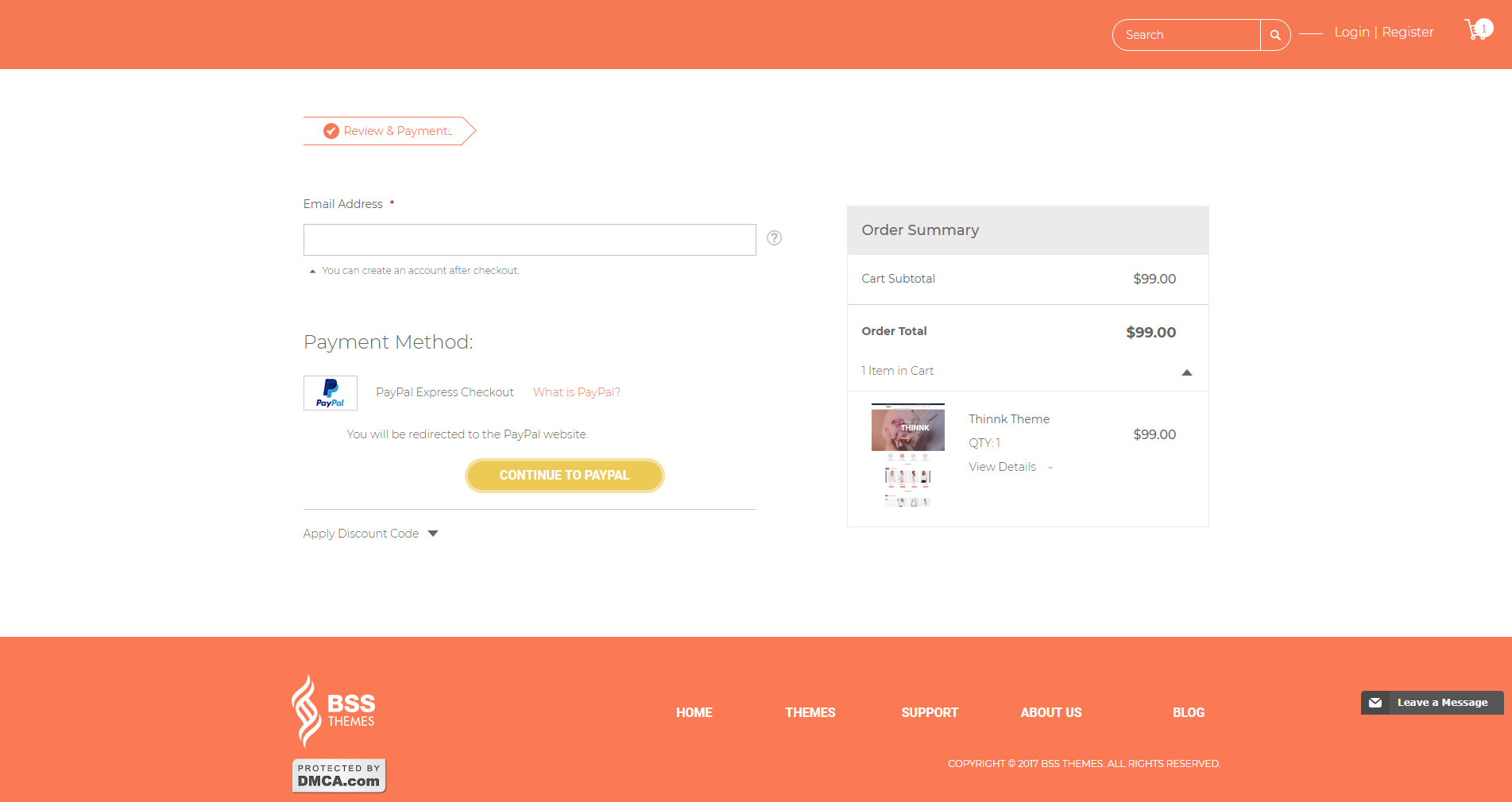 checkout page - important page for e-commerce
