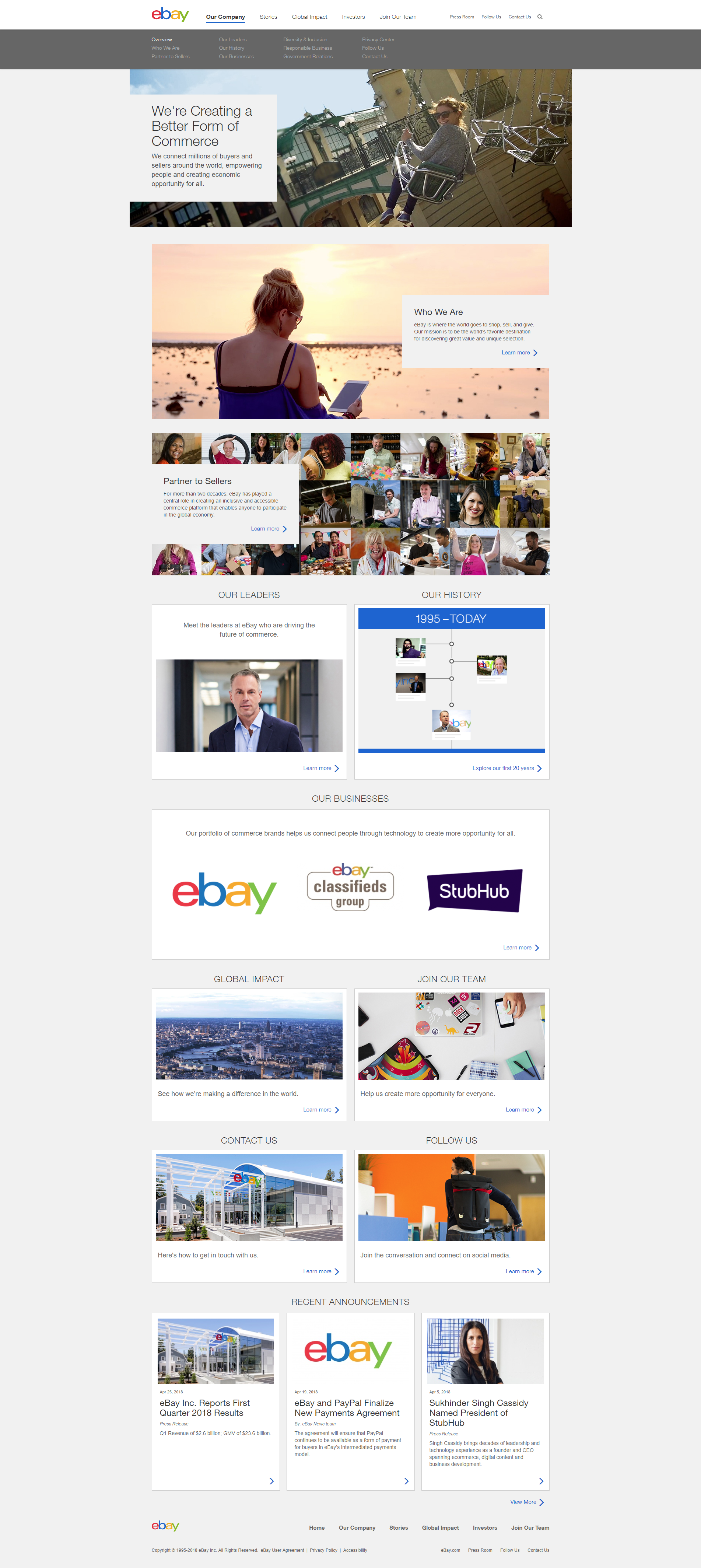 About page - important page for e-commerce website