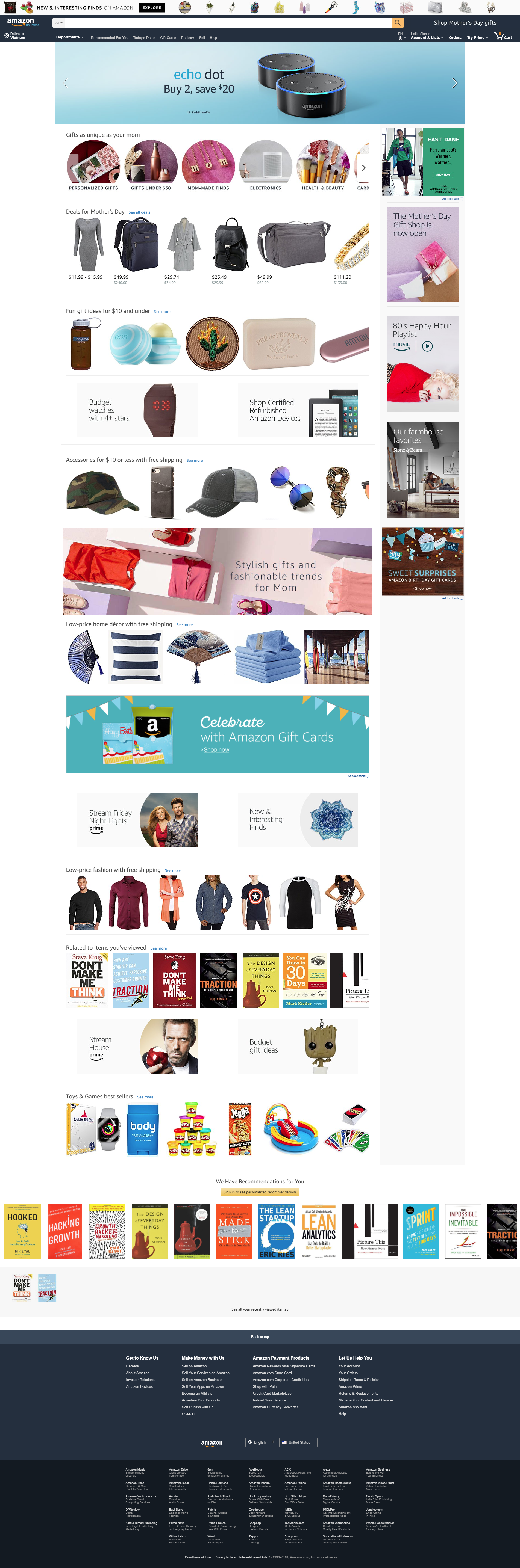 homepage - most important page of e-commerce website