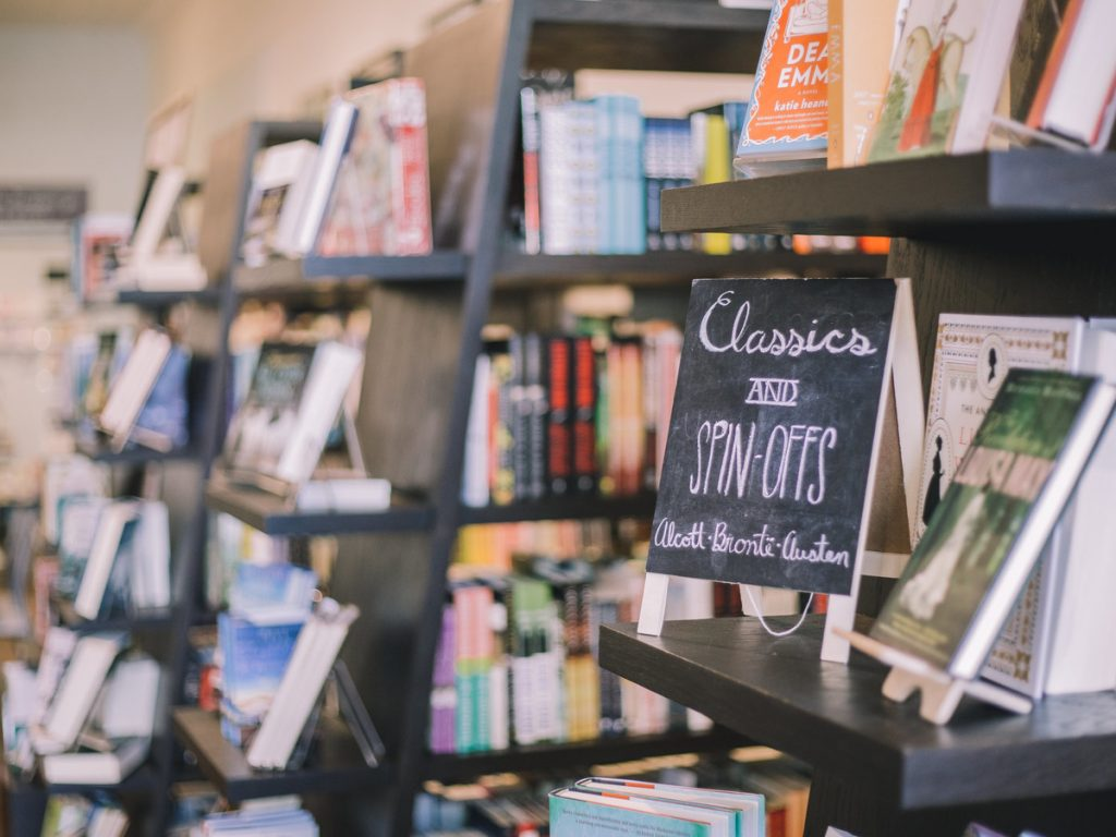 bookshelves - important view of bookstore