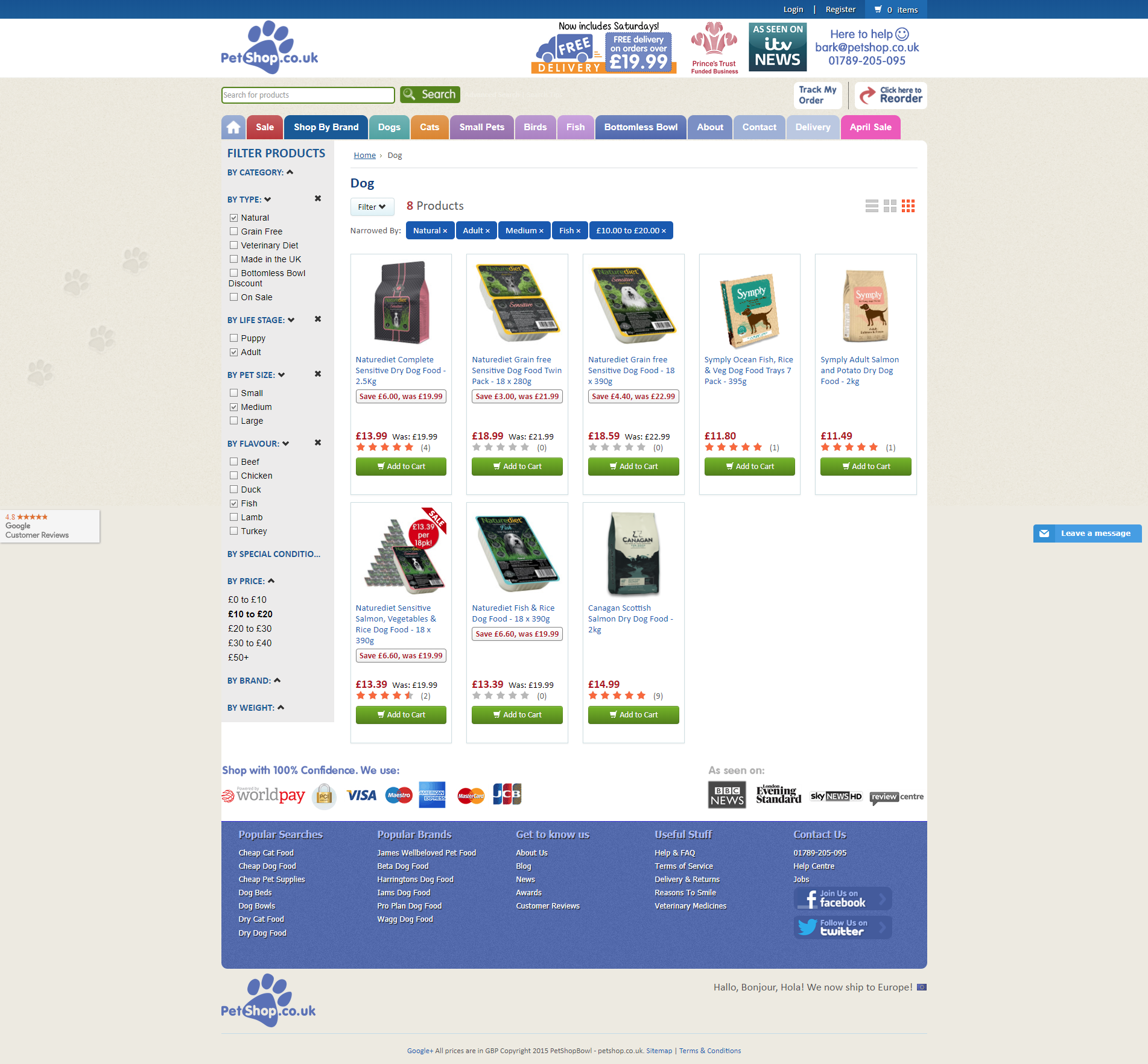 category page - important page for e-commerce website
