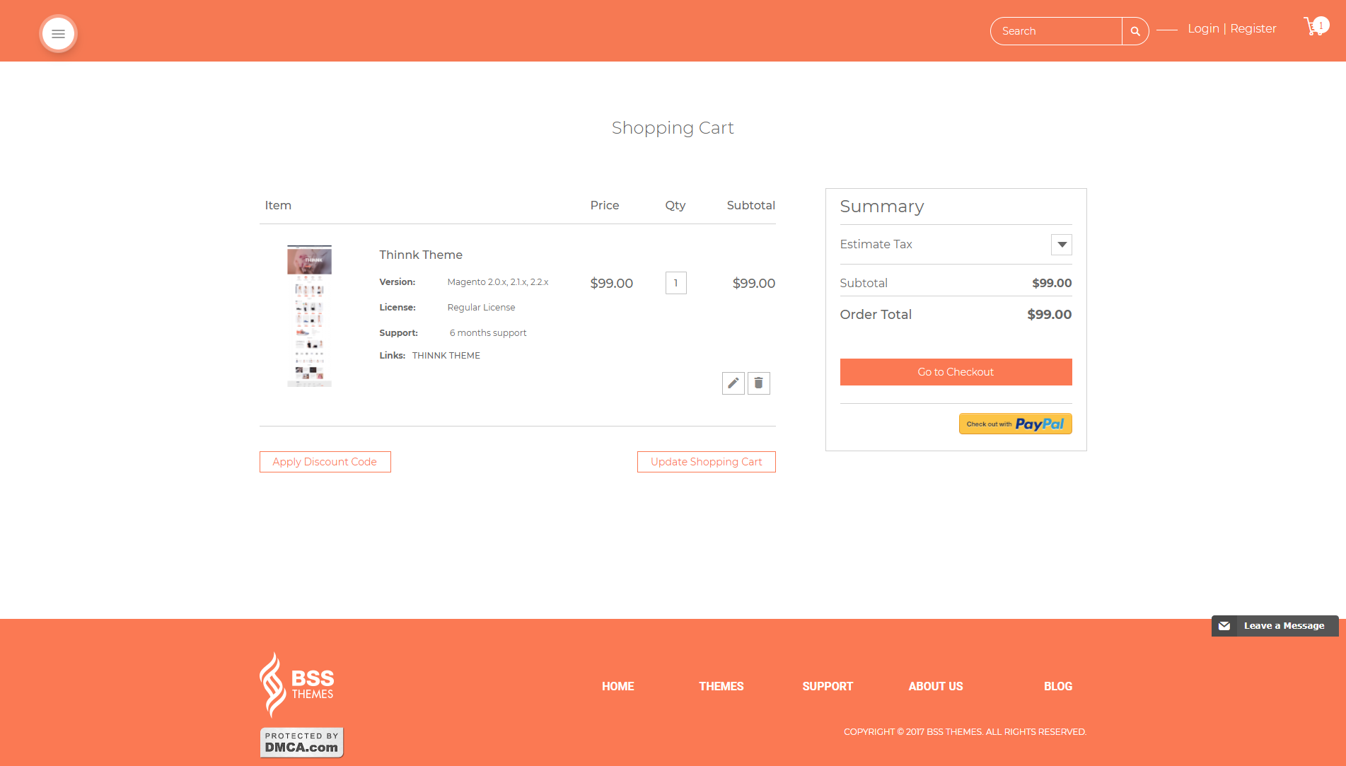 Cart page - important page of e-commerce site