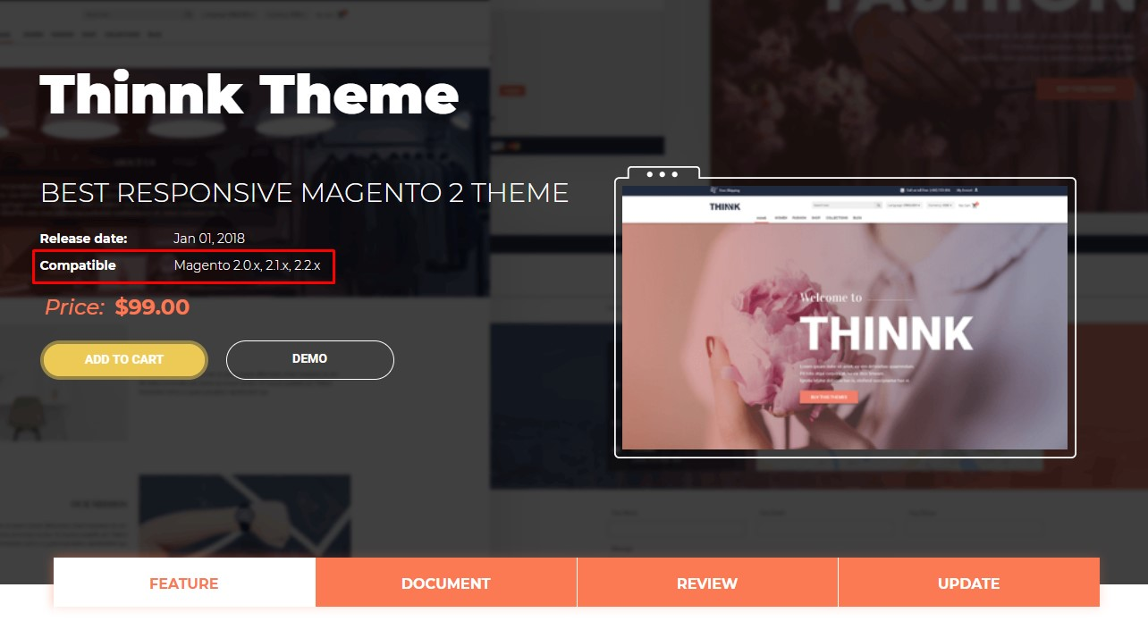 considering Magento 2 Theme's Technical Aspect_5 - theme supported versions